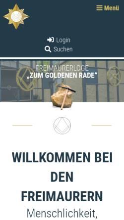 Vorschau der mobilen Webseite www.freimaurerloge-osnabrueck.de, Freimaurerloge Zum Goldenen Rade im Orient Osnabrueck