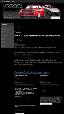 Vorschau der mobilen Webseite www.audifreundeschwelm91ev.de, Die Audi Comunity für Wuppertal, Schwelm Remscheid , Solingen und das Bergische Land.