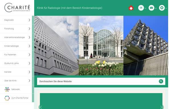 Vorschau von radiologie.charite.de, Berlin - Klinik für Strahlenheilkunde
