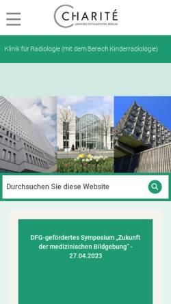 Vorschau der mobilen Webseite radiologie.charite.de, Berlin - Klinik für Strahlenheilkunde