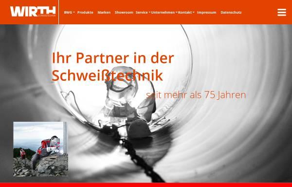 Vorschau von www.wirth-schweisstechnik.de, Schweisstechnik Oerlikon Wirth GmbH & Co. KG