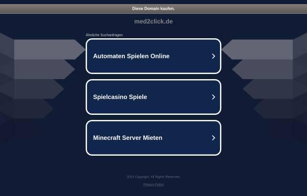 Vorschau von med2click.de, Med2Click