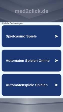 Vorschau der mobilen Webseite med2click.de, Med2Click