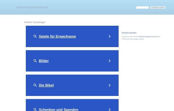 Vorschau von www.weihnachtsgeschichte.de, Weihnachtsgeschichte.de by Frank Seidel