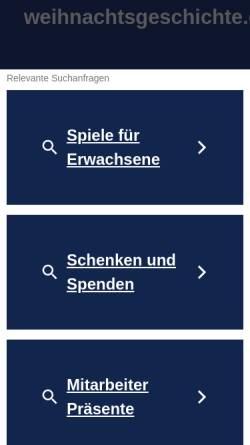 Vorschau der mobilen Webseite www.weihnachtsgeschichte.de, Weihnachtsgeschichte.de by Frank Seidel