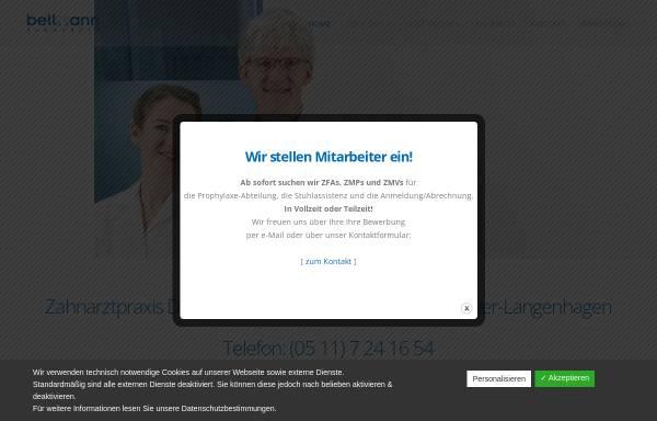 Vorschau von www.zahnarzt-bellmann.de, Dr. med. dent. Frank Bellmann und Zahnärztin Maren Bellmann - Praxis für Zahnheilkunde