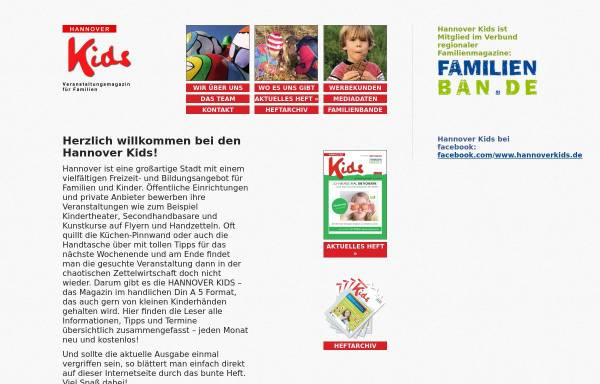 Vorschau von www.hannoverkids.de, Hannover Kids - Hannover Kids e.V.