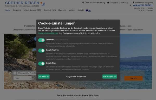 Vorschau von www.grether-reisen.de, Thomas Grether-Reisen GmbH