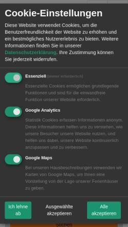 Vorschau der mobilen Webseite www.grether-reisen.de, Thomas Grether-Reisen GmbH