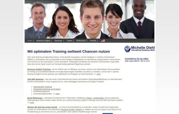 Vorschau von www.englishtraining.net, International Business Skills, Inh. Michelle Diehl