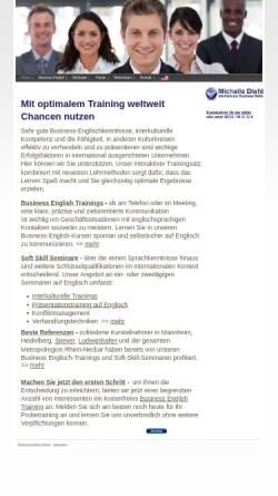 Vorschau der mobilen Webseite www.englishtraining.net, International Business Skills, Inh. Michelle Diehl