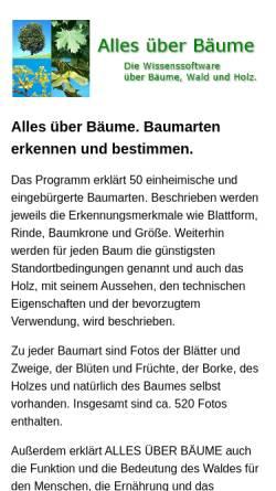 Vorschau der mobilen Webseite www.baumarten.info, Alles über Bäume