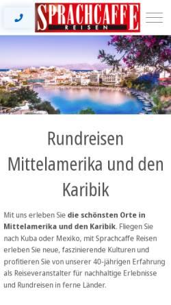 Vorschau der mobilen Webseite www.sprachcaffe-reisen.de, Sprachcaffe Reisen