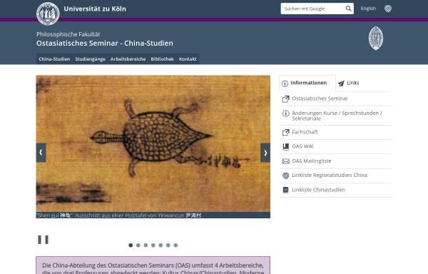 Vorschau von www.china.uni-koeln.de, China-Studien an der Universität zu
