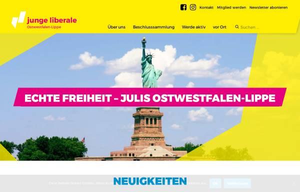 Vorschau von owl.julis.de, JuLis - Junge Liberale Bezirksverband Ostwestfalen-Lippe