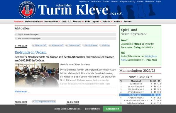 Vorschau von www.turmkleve.de, Schachclub Turm Kleve 1974 e.V.