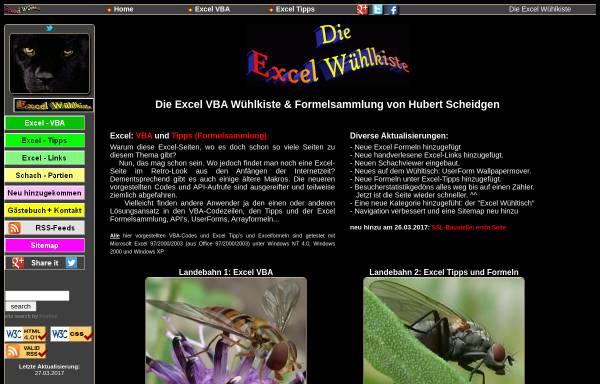 Vorschau von www.scheidgen.de, Excel Tuning by Hubert Scheidgen