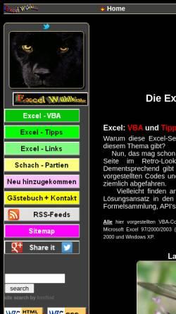 Vorschau der mobilen Webseite www.scheidgen.de, Excel Tuning by Hubert Scheidgen