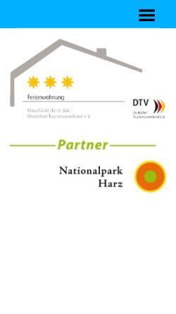Vorschau der mobilen Webseite www.ferienwohnung-waldzwerge.de, Ferienwohnung Waldzwerge
