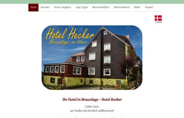 Vorschau von www.hotel-hecker-braunlage.de, Hotel Hecker