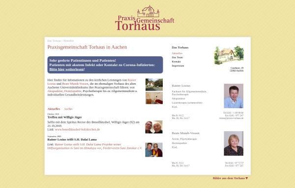 Vorschau von www.praxis-torhaus.de, Praxisgemeinschaft Torhaus in Aachen