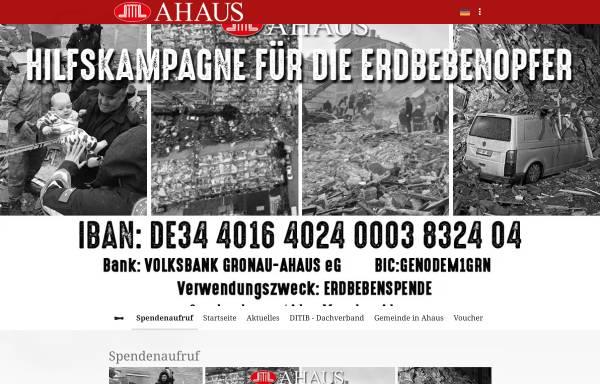 Vorschau von www.moschee-ahaus.de, Aksa Moschee - Türkisch Islamische Kulturgemeinde Ahaus e.V