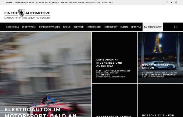 Vorschau von www.finestautomotive.com, Finestautomotive.com