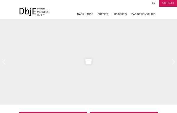 Vorschau von dbje.de, DBJE Design Marketing IT