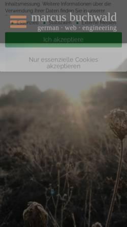 Vorschau der mobilen Webseite www.marcus-buchwald.de, Markus Buchwald