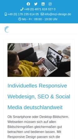 Vorschau der mobilen Webseite www.mzi-design.de, mzi-design | Markus Zimmermann