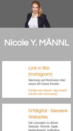 Vorschau der mobilen Webseite www.enypsilon.de, NY DesignBeratung, Nicole Y. Männl