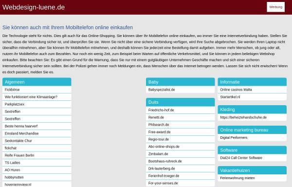 Vorschau von www.webdesign-luene.de, Creative Design Solutions, Andreas Schulz