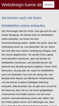 Vorschau der mobilen Webseite www.webdesign-luene.de, Creative Design Solutions, Andreas Schulz