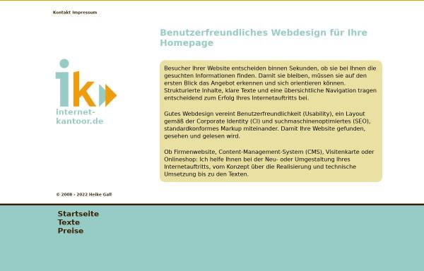 Vorschau von www.heikegall.de, Webdesign in Ostfriesland, Heike Gall