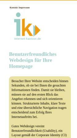 Vorschau der mobilen Webseite www.heikegall.de, Webdesign in Ostfriesland, Heike Gall