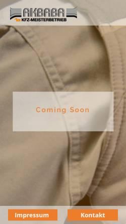 Vorschau der mobilen Webseite www.1akfz.de, Akbaba Kfz Reparatur- und Handels GmbH & Co. KG