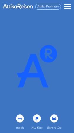Vorschau der mobilen Webseite www.attika.de, Attika Reisen GmbH & Co. KG