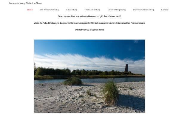 Vorschau von www.seifert-stein.de, Ferienwohnung Seifert