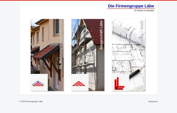 Vorschau von www.baugeschaeft-laebe.de, Baugeschäft Läbe GmbH