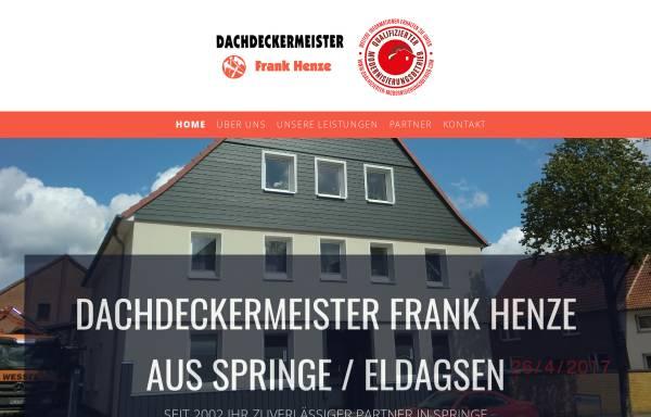Vorschau von www.henze-dachdeckermeister.de, Dachdeckermeister Frank Henze