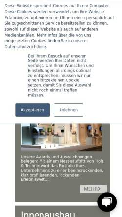 Vorschau der mobilen Webseite holzundtechnic.de, Holz & Technic GmbH