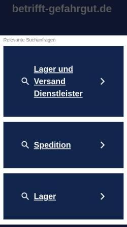 Vorschau der mobilen Webseite www.betrifft-gefahrgut.de, Betrifft-Gefahrgut