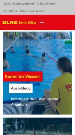 Vorschau der mobilen Webseite mitte.dlrg.de, DLRG Berlin Mitte und Bezirk Treptow-Köpenick