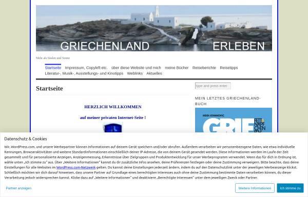 Vorschau von griechenlanderleben.wordpress.com, Griechenland erleben [Heidi Jovanovic]