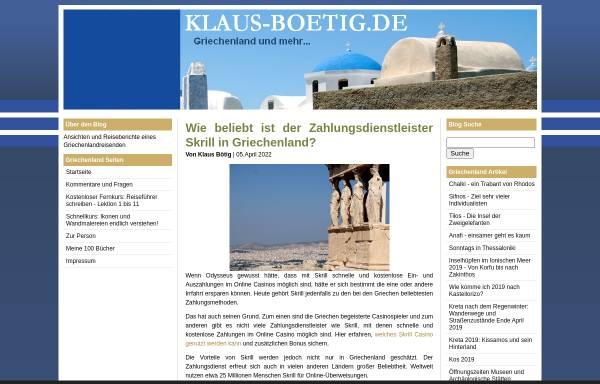 Vorschau von www.klaus-boetig.de, Griechenland und mehr [Klaus Bötig]
