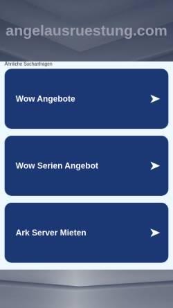 Vorschau der mobilen Webseite angelausruestung.com, Angelausruestung.com