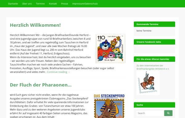 Vorschau von www.briefmarken-herford.de, Junge Briefmarkenfreunde Herford im Landesring NRW der DPhJ e.V.