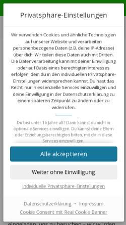 Vorschau der mobilen Webseite www.briefmarken-herford.de, Junge Briefmarkenfreunde Herford im Landesring NRW der DPhJ e.V.