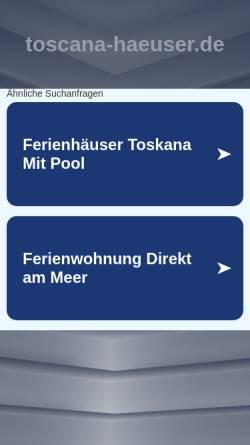 Vorschau der mobilen Webseite www.toscana-haeuser.de, Thomas Mammensohn