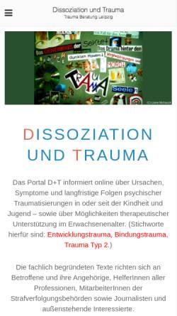 Vorschau der mobilen Webseite www.trauma-beratung-leipzig.de, Trauma Beratung Leipzig